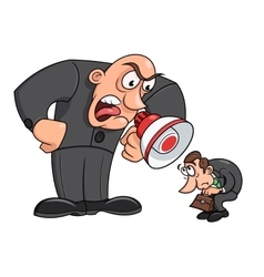 Boss yelling at his worker 3 vector image vector image