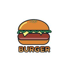burger logo burger labels vector image