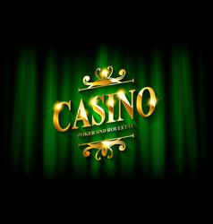 casino business advertising design vector image