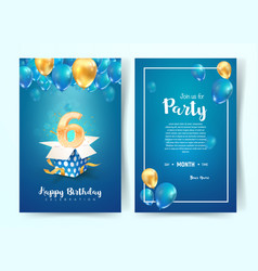 celebration 6 th years birthday vector image
