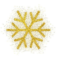 Christmas decoration with sparkling light effect vector