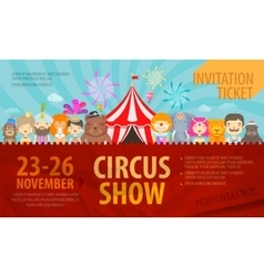 Circus Design template posters or ticket vector image