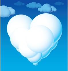 Cloud heart vector