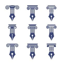 column set 9 vector image