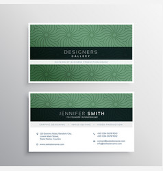 corporate business card layour with abstract vector image