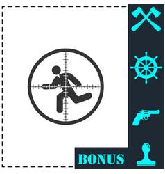 crosshair icon flat vector image