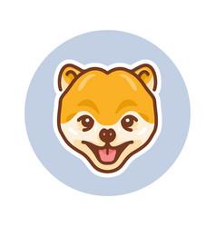 cute dog mascot vector image