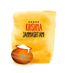 Dahi handi festival shree krishna janmashtami vector