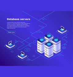 database servers digital datacenter server vector image