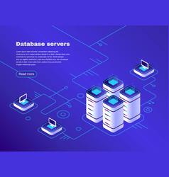 Database servers digital datacenter server vector