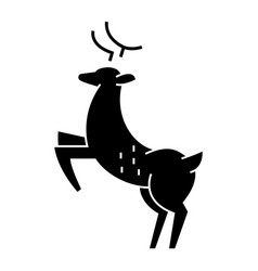 Deer icon sign on isolate vector