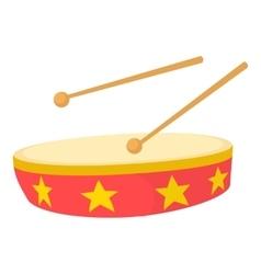 Drum icon cartoon style vector