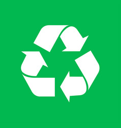 eco recycle icon on green background vector image