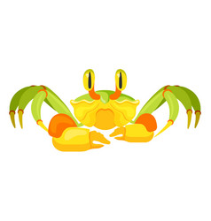 Fiddler crab with five pair legs vector