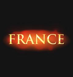 france - golden caption vector image