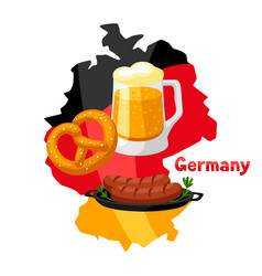 german food on map germany vector image