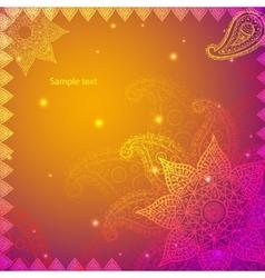 Gold Indian Vintage Ornament EPS10 Design vector