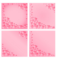 Hearts design for valentines day vector
