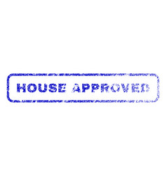 house approved rubber stamp vector image