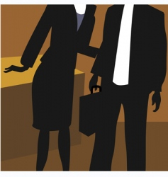 Lady and man in office vector