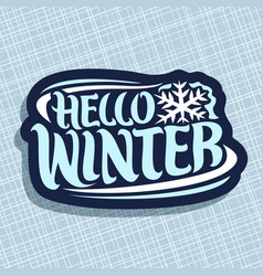 logo for winter season vector image