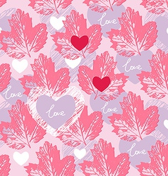 Love seamless pattern decorative background vector image