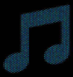 Music mosaic icon of halftone bubbles vector
