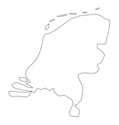 netherlands holland - solid black outline border vector image