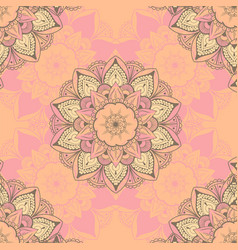 ornamental round seamless floral lace pattern vector image