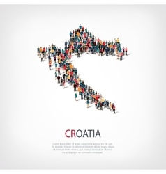 people map country Croatia vector image