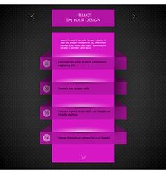 Pink flat design vector image vector image