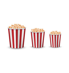 realistic popcorn mockup isolated red vector image
