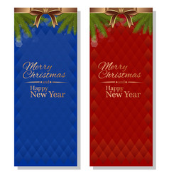 red and blue christmassy backgrounds card vector image