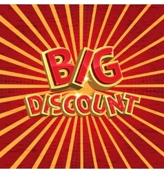 Red discount background vector image
