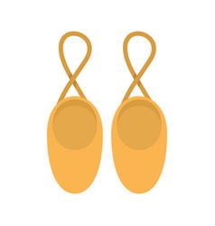 Rhythmic gymnastics shoes icon flat style vector