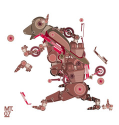 Robot motorcycle and guitar vector