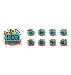 sale tags discount badges 10 20 30 vector image