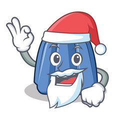 santa jelly character cartoon style vector image