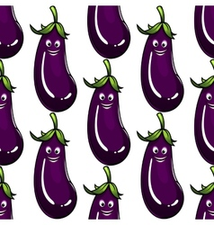 Seamless background pattern of a ripe eggplant vector image