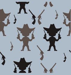 seamless pattern cowboy vector image