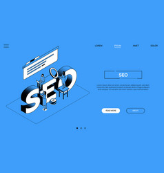 search engine optimization landing page vector image