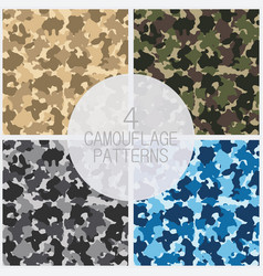 set camouflage patterns vector image