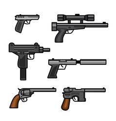 Set of guns vector