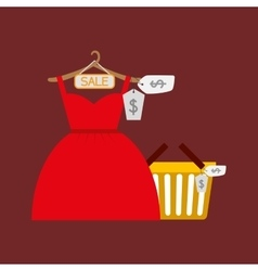 Shopping woman fashion vector