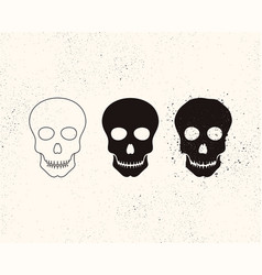 skull icon bony structure that forms the head vector image