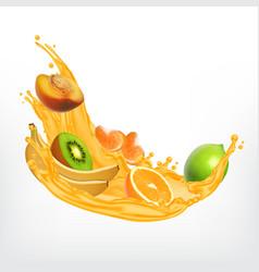 splash of juice vector image