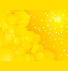 square party yellow background with white dots vector image