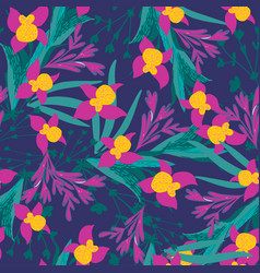 stylish vintage floral seamless pattern eps8 vector image
