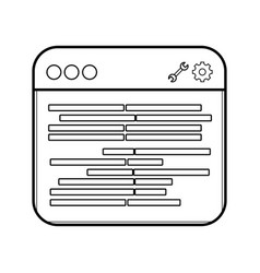 Technology computer window cartoon vector