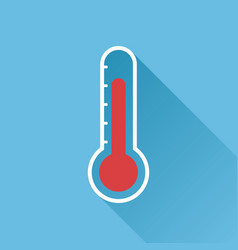 Thermometer icon goal flat isolated on blue vector
